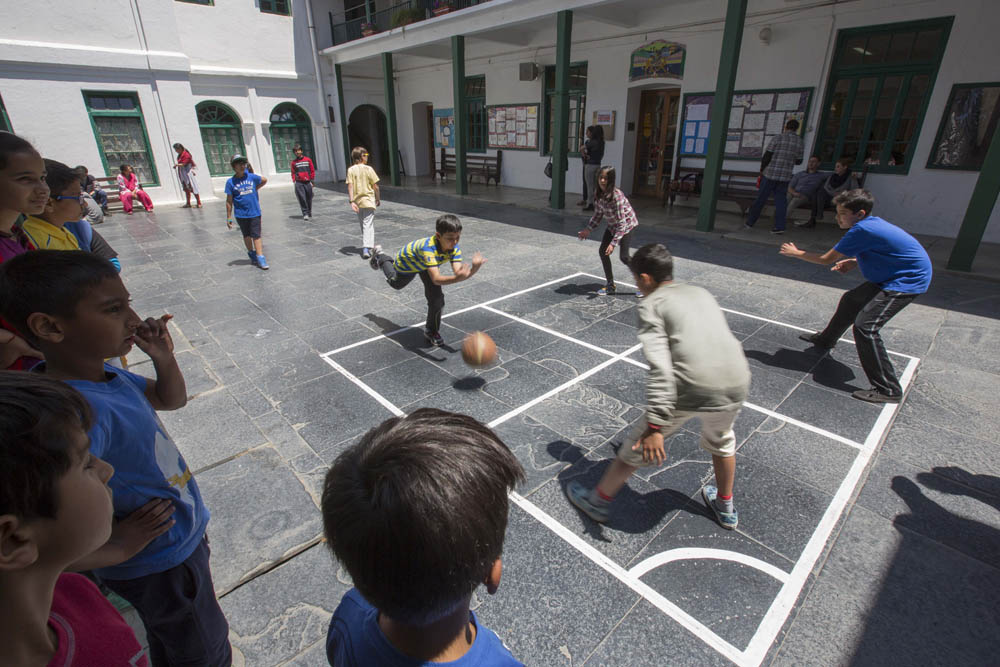 Playing 4-Square in the Quad