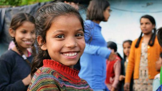 A girl from the deprived area of Sippancoat which is benefitting from the Liter of Light project and Woodstock School.