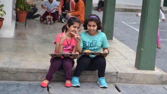 Children at Woodstock School
