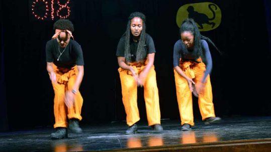 Students performing at Woodstock School talent show