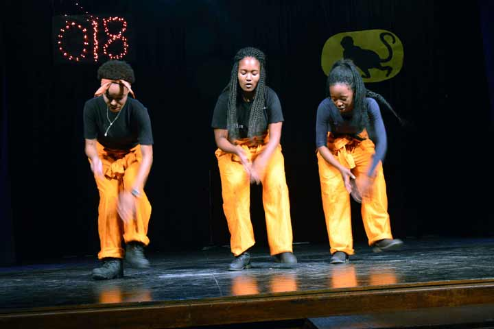 Students performing at Woodstock School talent show