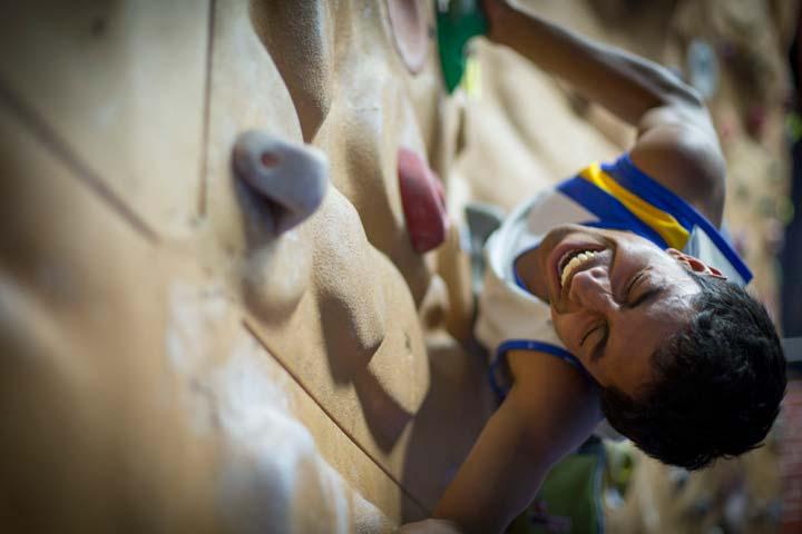 Woodstock student climbing